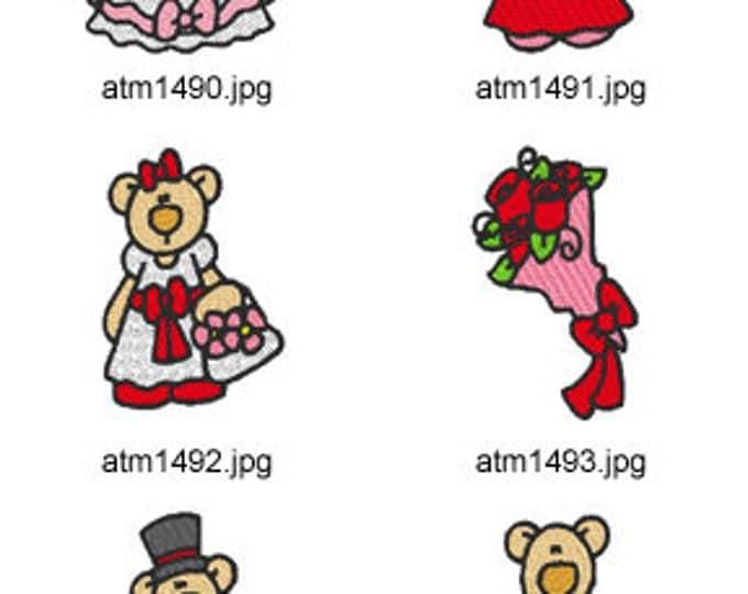 Wedding-Bears ( 10 Machine Embroidery Designs from ATW ) XYZ17C