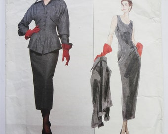 Vintage Sewing Pattern 1990s Vogue Pattern by Karl Lagerfeld Vogue Paris Original including sew in patch label