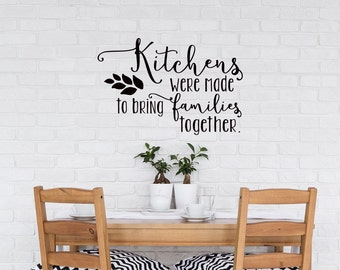 Kitchen wall decal | Etsy