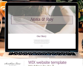 One Page Wedding Invite Website 2 | WIX website template