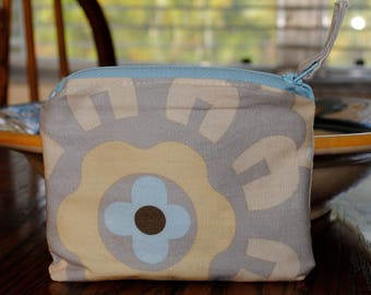 Beige Change Purse, Small wallet, Small zip bag, Small, Lined Pouch, Change Purse, Change purse with matching cross body bag