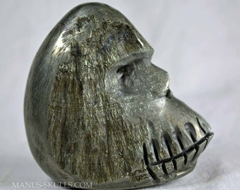 Sun Pyrite unique handcarved by Artist .... Manus Skull ..... King Kong