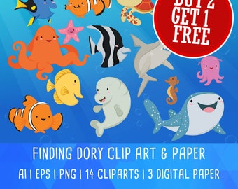 Finding dory clipart – Etsy