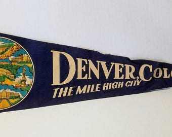 Denver, Colorado - Vintage Pennant