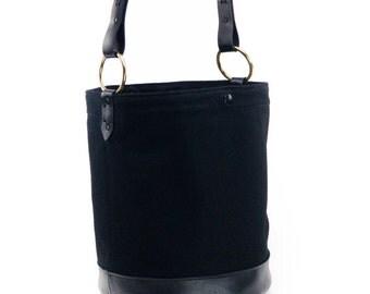 Bucket Bag women / Women bucket bag /  Hobo Tote Bag / Bucket handbag / Black leather bag /  Bucket Purse /  Bucket bag leather / canvas