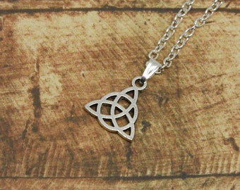 Celtic necklace Celtic knot short silver of necklace celtic knot jewelry silver jewellery pagan silver gift gifts for women teens