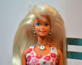 Clam Digger, Barbie, Vintage Doll, Blue Eyed Barbie, Brush-able Hair, Barbie Doll, Blond Hair, Mattel Toys