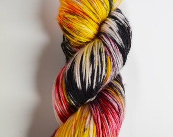 hand dyed yarn, handdyed yarn, hand dyed dk yarn, handdyed dk yarn, hand painted yarn, dk yarn, Chinese NewYear