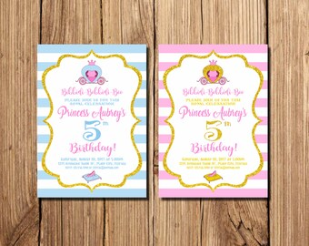 Princess Cinderella Birthday Invitation, Cinderella Invitations, Cinderella Birthday Invitation, Princess Party, Cinderella Party,