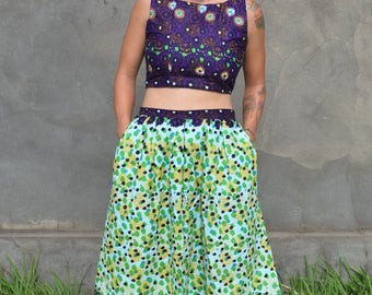 Handmade African Crop Top and Skirt Combo