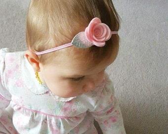 Custom rose headband, flower crown, floral crown, felt flower headband, baby headbands,  roses headband, felt rose headband, infant headband