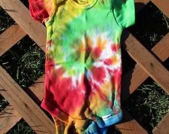 Spiral Tie Dye Onesie (0-3 months)