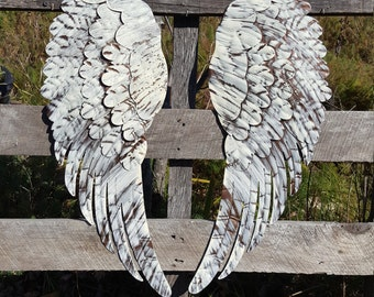 Wings Wall Decor metal angel wings wall decor metal cross rustic shabby chic