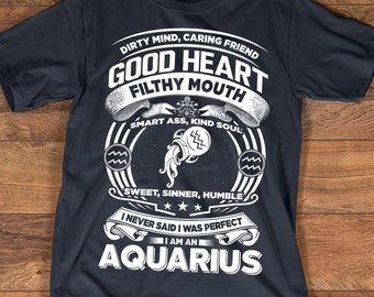Aquarius T-shirt | Aquarius Shirt | Zodiac Astrology Shirt | Birthday Gift | Aquarius Zodiac Sign | Aquarius Horoscope Astrology T-shirt