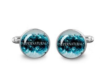 Supernatural Cuff Links 16mm Cufflinks Gift for Men Groomsmen Novelty Cuff links Fandom Jewelry