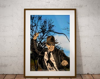 Indiana Jones Pop Culture Wall Art Print