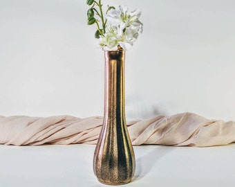 Vintage vase/ Handmade vintage vase/ Handmade vase/ Vintage gold vase/ Handmade gold vase/ Gold and black vase