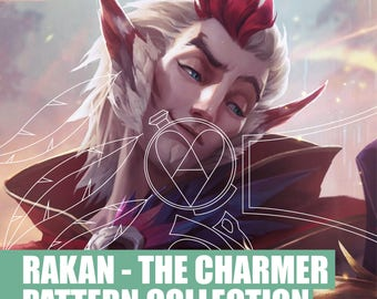 Rakan the charmer - League of Legends - Armor Pattern Collection Bracer - Feather - Skull - Mirror - Cosplay - Blueprint Pattern - DIY - PDF