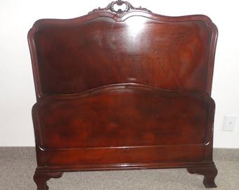 Antique Drexel Mahogany Single Bed Headboard