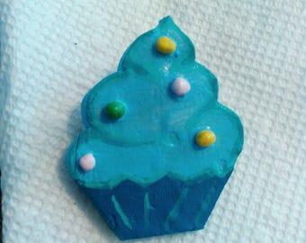 Blue Cupcake Pin
