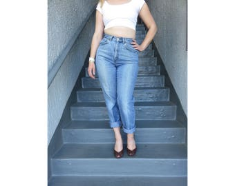 Vintage Levis High Waisted Jeans Light Denimin Deep Front Pockets Strauss & Co Levi's SF Cal Made in USA