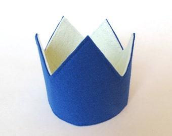Navy Birthday Crown, Navy 1st. Birthday Crown, READY TO SHIP