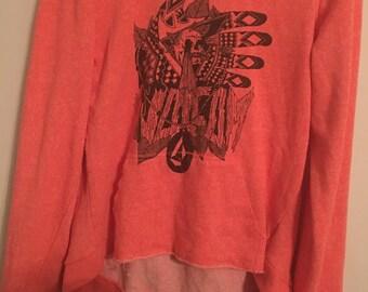 Pullover Orange Hoodie Size S/M