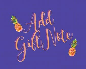 Add a Gift Note!