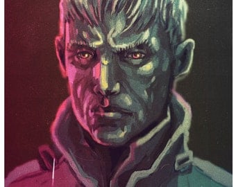 Space General - portrait of a scifi character
