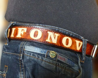 Personalized Belt Custom Belt Brown Belt Men's leather Belt Handmade belt Brown Leather Belt