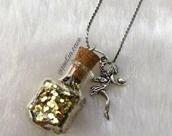 Glass bottle jewelry, vial jewelry, vial charm, vial necklace, glass bottle charm, miniature jewelry, glass vial necklace,vial pendant, vial