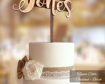 Rustic cake topper Etsy