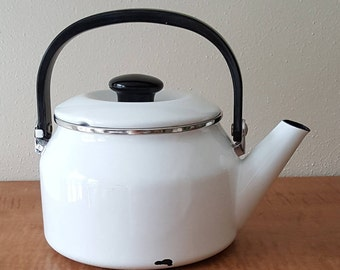 Black White Teapot Etsy