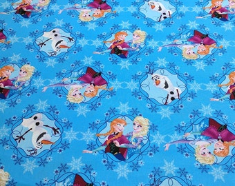 Frozen-Sisters ice Skating Cotton Fabric