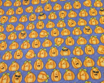 Toil and Trouble-Pumpkins Cotton Fabric from Henry Glass