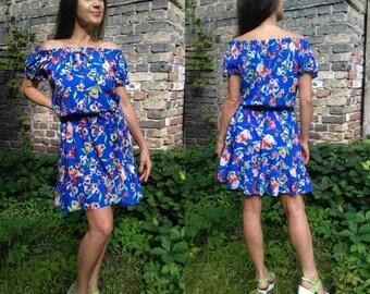 Летнее платье, короткое платье, summer dress, short dress