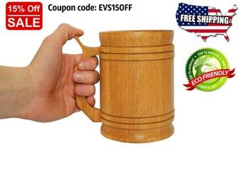 Beer Mug, Beer Stein, Tankard, Personalize Beer Mug, Beer Gifts For Men, Beer Gifts, Beer Accessories, Wooden Stein, Wooden Mugs, Beer Mugs,