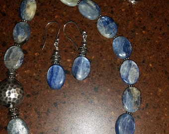 Kyanite Gemstone Jewelry Set