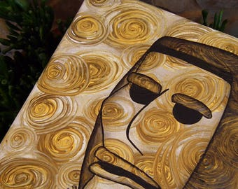 Hand-painted canvas, Mamuthones