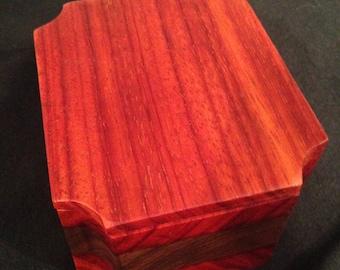 Wooden Padauk Box