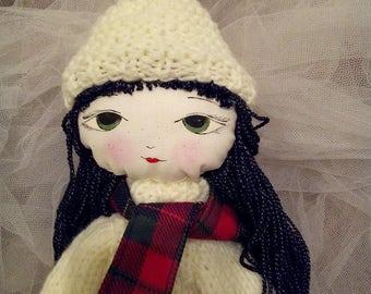 Ragdoll/hand made doll/soft doll/textile doll/pretty doll
