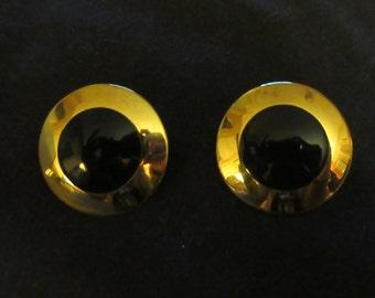 Pair of Monet Disc Earrings