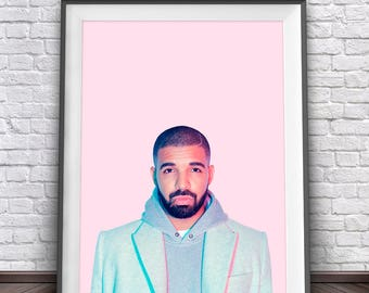 Drake Print • Drake Hotline Bling Print Drake Poster Drake Art Rap Quotes Drizzy Drake Party Hip Hop Wall Art
