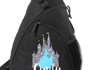 Cinderella Castle Sling Bag, Disney backpack, Cinderella backpack