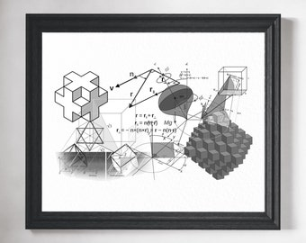 Math Art- Math Poster, Math Teacher Gift, Math Gift, Math Art Print, Math Classroom Decor, Mathematics Equation, Math Print, Math Geek Art