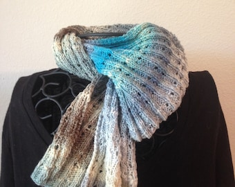 Hand Knit Noro Scarf