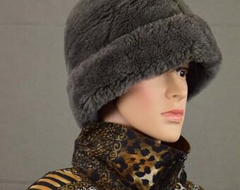 Vintage Hat North King Dyed Mouton Lamb Fur Origin - Amalgamated Clothing Textile Union Made - Made in USA