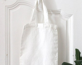 SMALL TOTEBAG customize washed linen bag