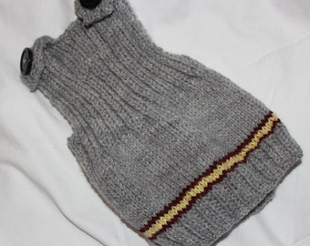 Hogwarts Harry Potter Inspired Baby Knitted Sweater Vest (All Houses Available! - Gryffindor, Hufflepuff, Slytherin and Ravenclaw)