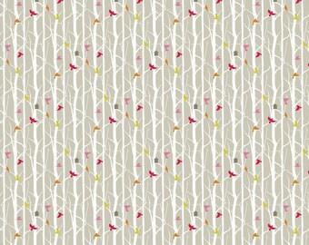 Birdhouse Quilting Fabric. Fabric by the Yard. Cotton Knit Jersey Minky. Baby Kids Bird Birds Nature Animals Trees Rainforest Tree Bird